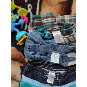 Lot Of 2 Carter's 12 Months Short And 1 Unbranded